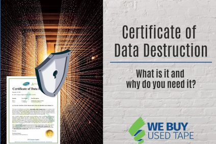 WHAT IS A CERTIFICATE OF DATA DESTRUCTION?