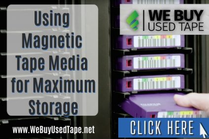 What is the maximum capacity of magnetic tape media used today?